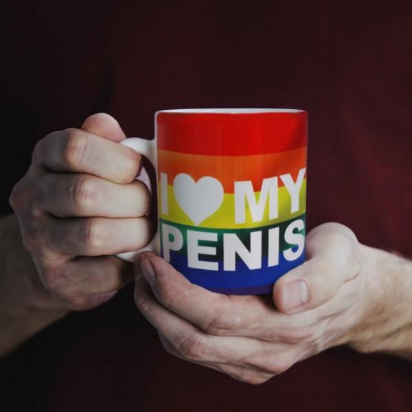 Tasse I Love my Penis Pride Logo Regenbogen ca. 300ml