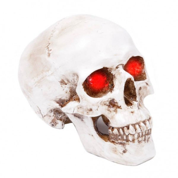 Dekoration Totenschädel-Lampe - weiß