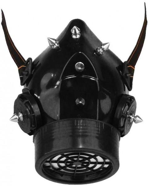 Steampunk Atemschutz Gasmaske Atemschutzmaske mit eingesetzten Metallspikes für Cosplay - Gothic - S
