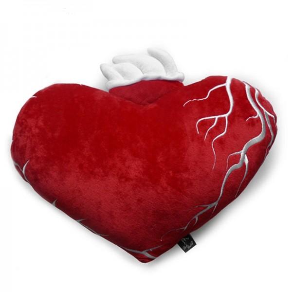 Flamming Heart Tattoo Old Shool Herz Schmusekissen
