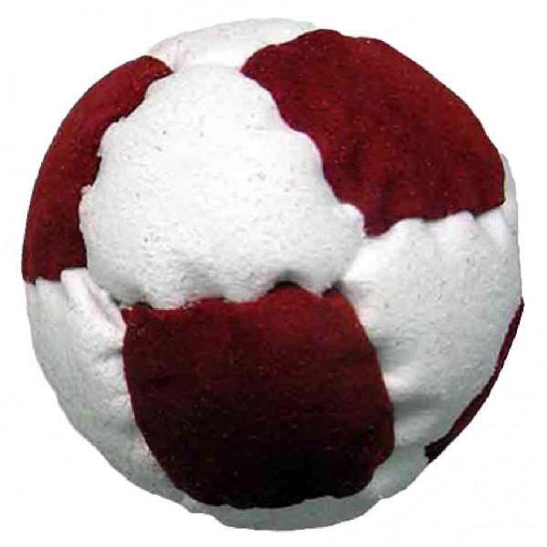 Jonglierball aus Leder Fußball rot weiß