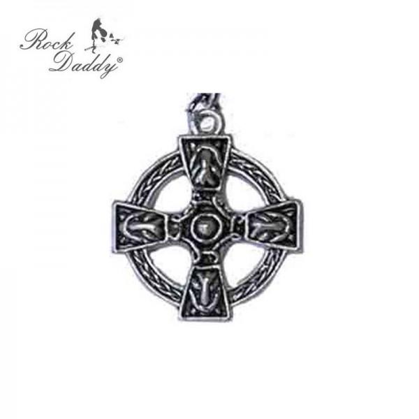 Metallkette mit Anhänger - Gotisches Kreuz