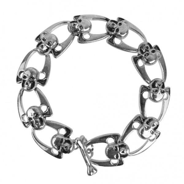 Totenkopf Glieder Armband