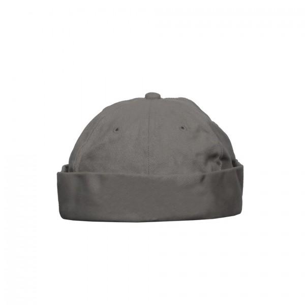 Uni Farbene Hipster Docker Cap in Grau