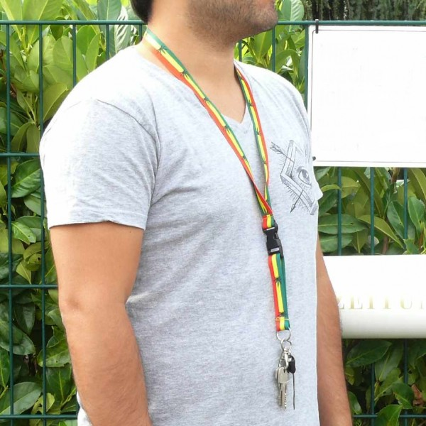Jamaica Hanf Blatt Schlüsselhalsband