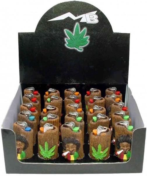 Legalize Weed Rauchender Rasta Mann Feuerzeuge im Display