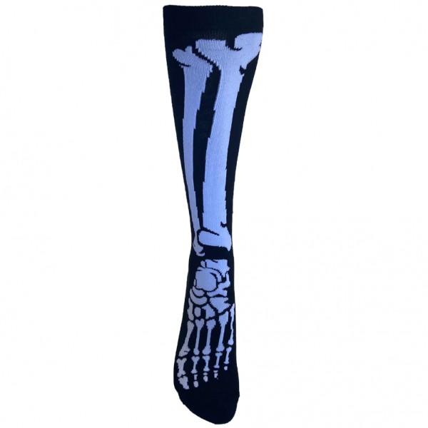 Schwarz Weiße Skelett Knochen Socken Unisize