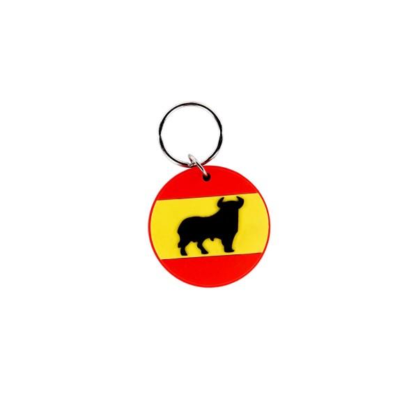 Spanischer Bulle Gummi Schlüsselanhänger