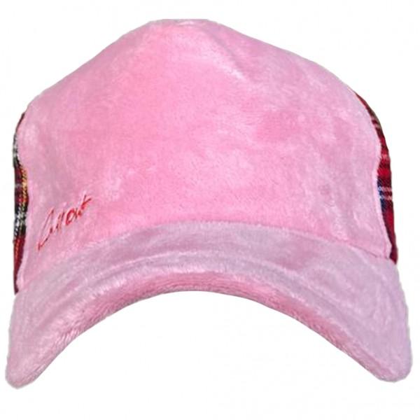 Cillouts Tartan Cap mit Rosa Schirm