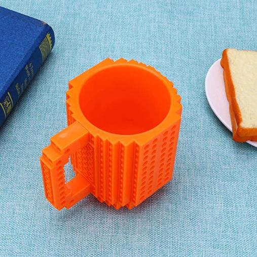 Brick Baustein Kunststoffbecher ca. 355ml Orange