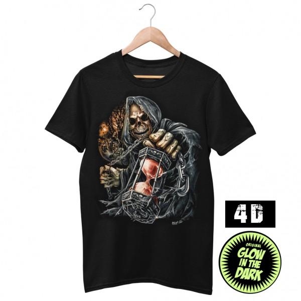 Wild 4D Die Uhr ist Abgelaufen Sensemann T-Shirt