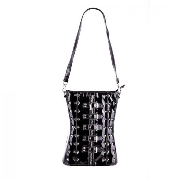 Schwarze Lack Corsagen Tasche