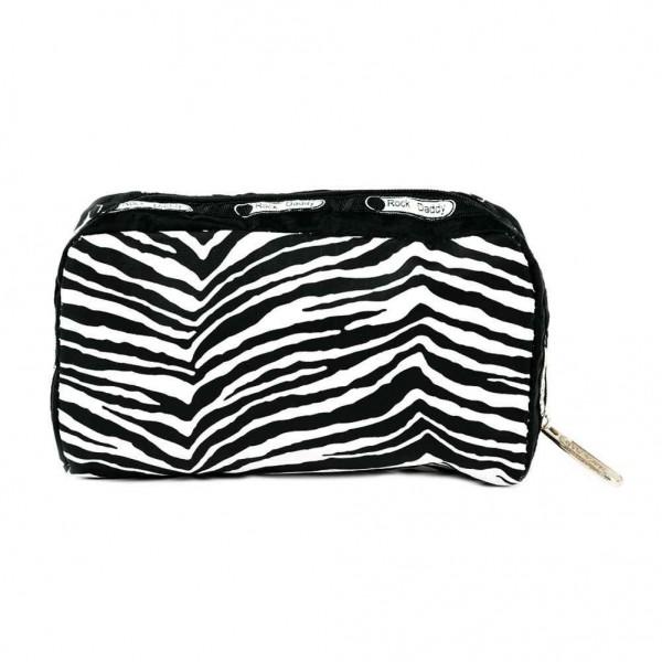Schminkbeutel in Zebra Fell Optik