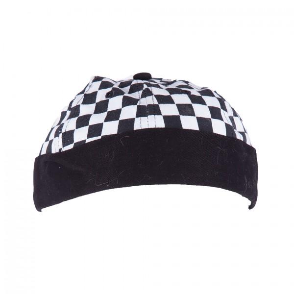 Schachbrett Schwarz Weiß Farbene Hipster Docker Cap