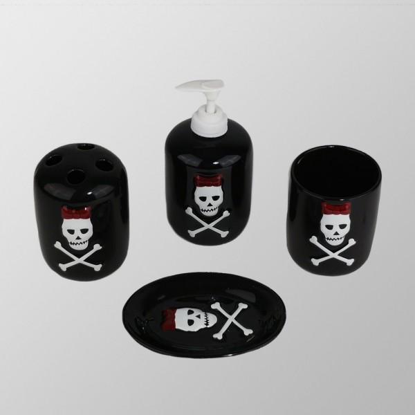 Badezimmer Set im Skull Design