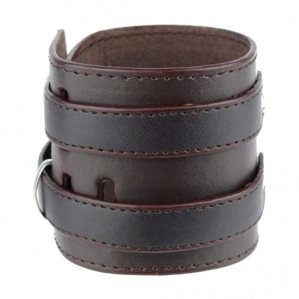 Leder Armband Doppelschnalle