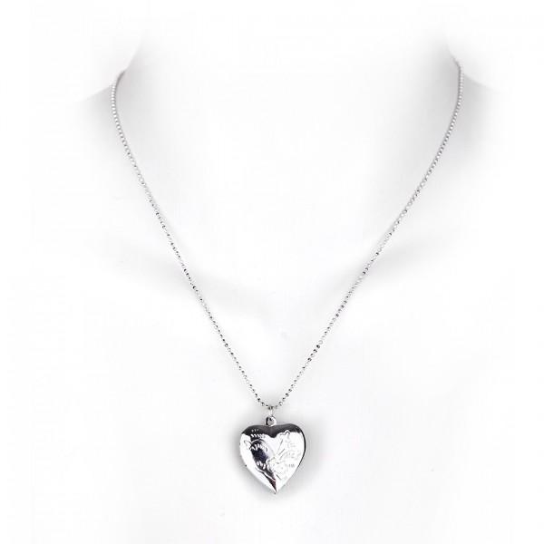 Girly Halskette aus Metall mit Herz Anhänger