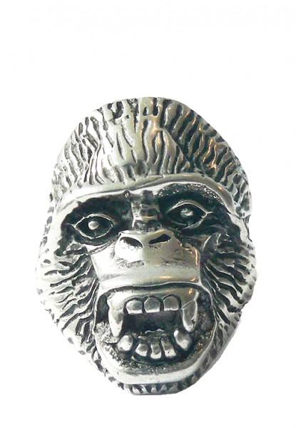 Metallring mit großem Affenkopf