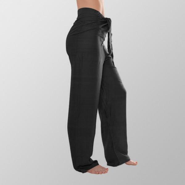 Schwarze Premium Unisex Yoga Baumwoll Hosen