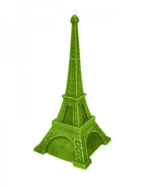 Eiffelturm Kerze in Grün