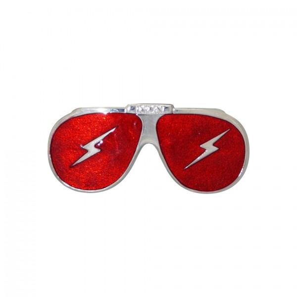 Rote Sonnenbrille Gürtelschnalle Unisex mit Blitz