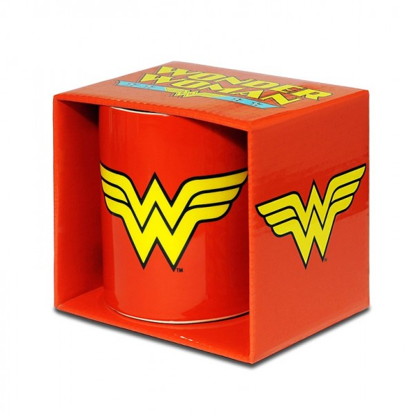 Wonder Woman Logo Tasse Rot ca.300ml
