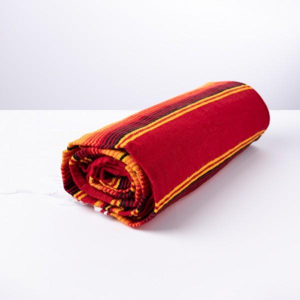 Feuer Rote Orignal Gestreifte Sarape Decke