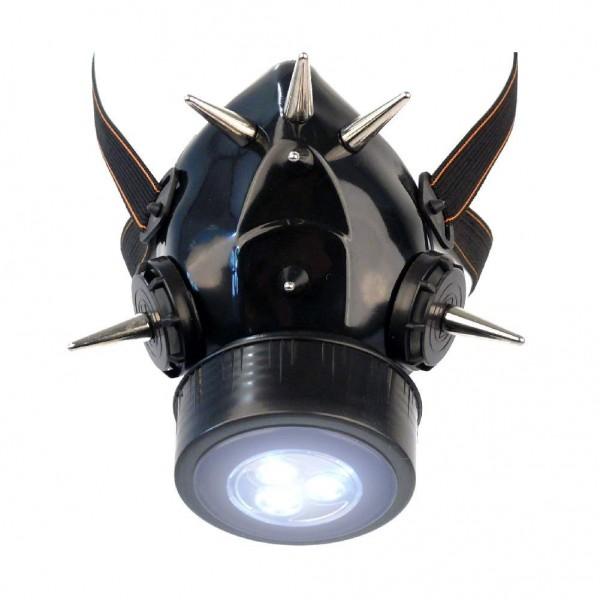 Gasmaske mit Langen Spikes und LED Licht