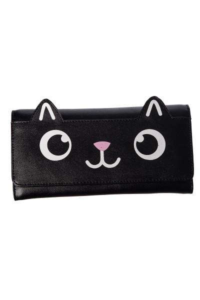 Banned Onyx Kitty Cat Geldbörse