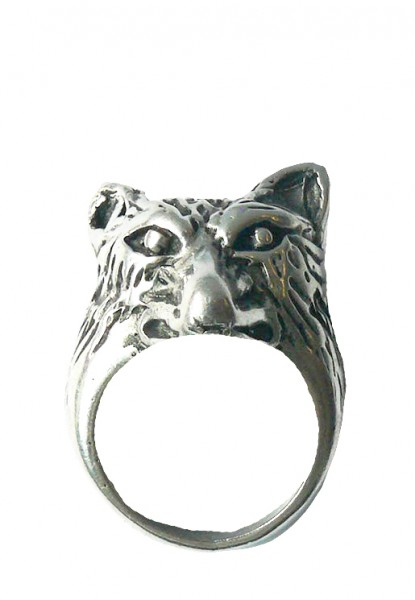 Großer Wolfs Metallring