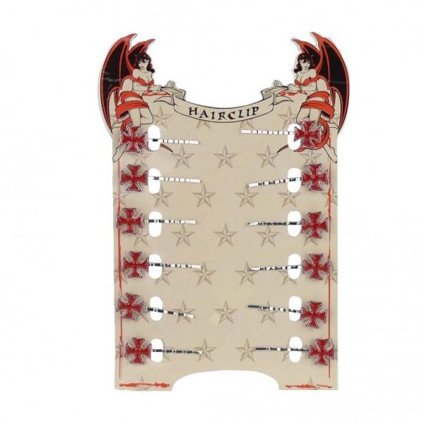 Rotes Eisernes Kreuz Haarschieber Display
