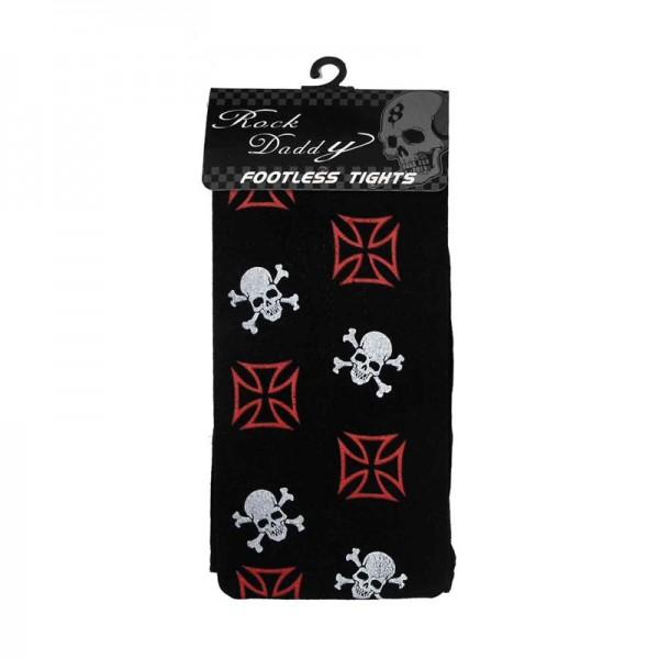 Strumpfhosen mit Skull Print