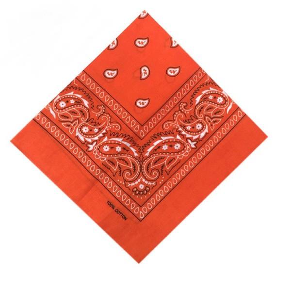 Bandana Halstuch Orange Paisley 55 cm x 55 cm