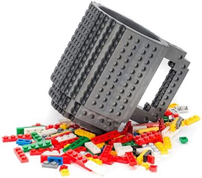Brick Baustein Kunststoffbecher ca. 355ml Grau