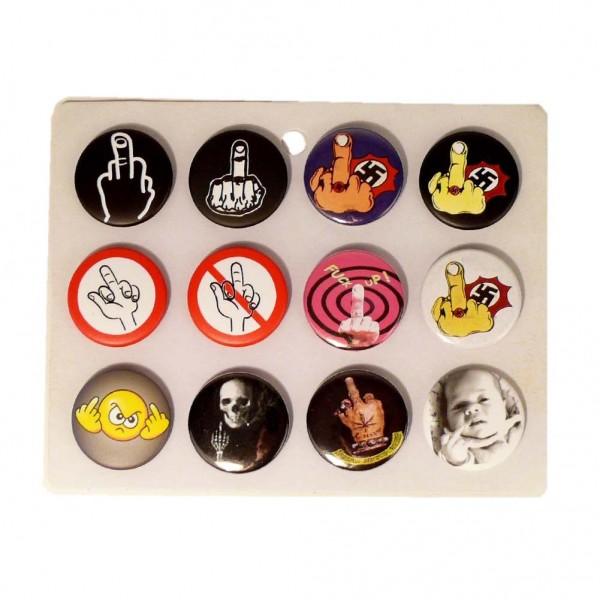 FUCK Nazis Button Display Gemischt