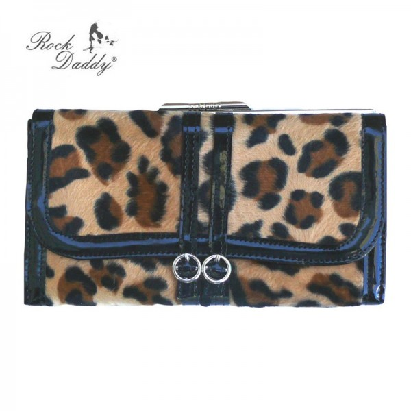 Rockabilly Leoparden Fell Geldbörse