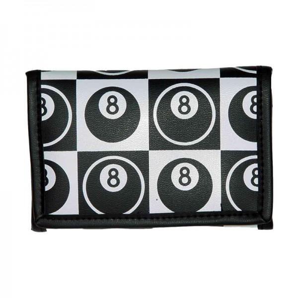 Eight Ball Billard Schachbrett Geldbörse Schwarz Weiß