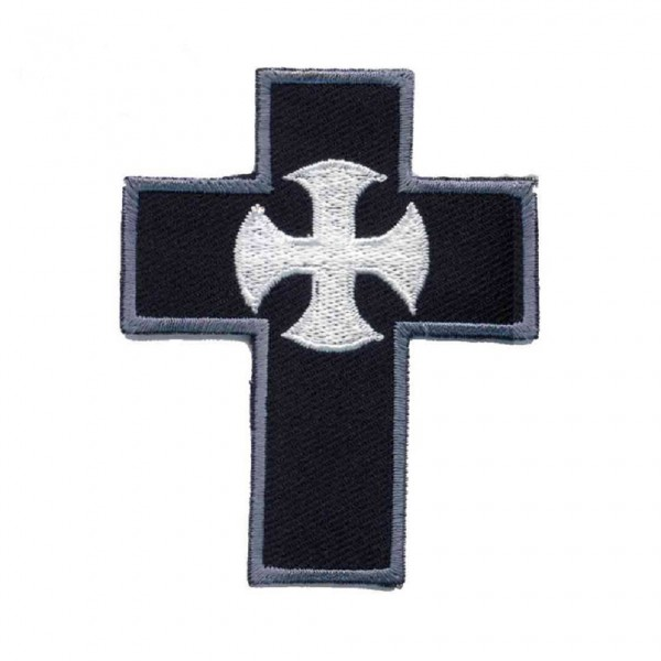Schwarzes Occult Kreuz Patch