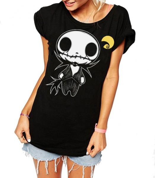 Motiv Shirt Schwarz Dark Jack Puppet Figur