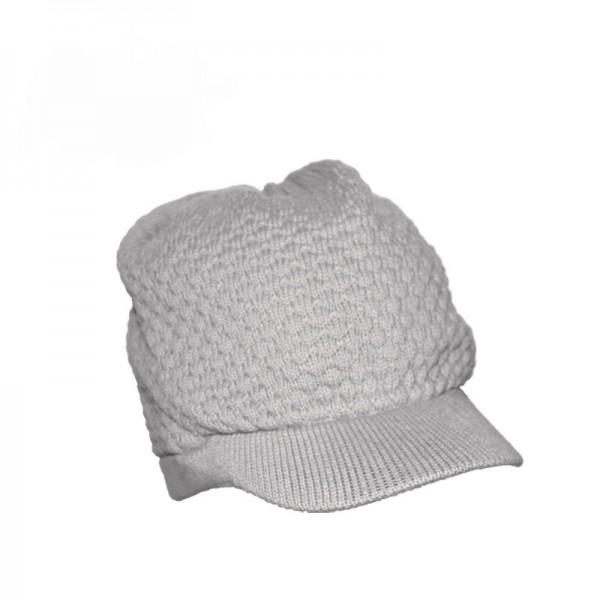 Silber Graue Winter Schirmmütze aus Baumwolle Unisex