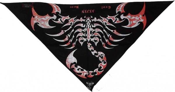 Dreiecks Multifunktions Baumwoll Tuch mit Tattoo Scorpion Aufdruck