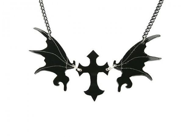 Acryl Vampier Halskette Occult Gothic