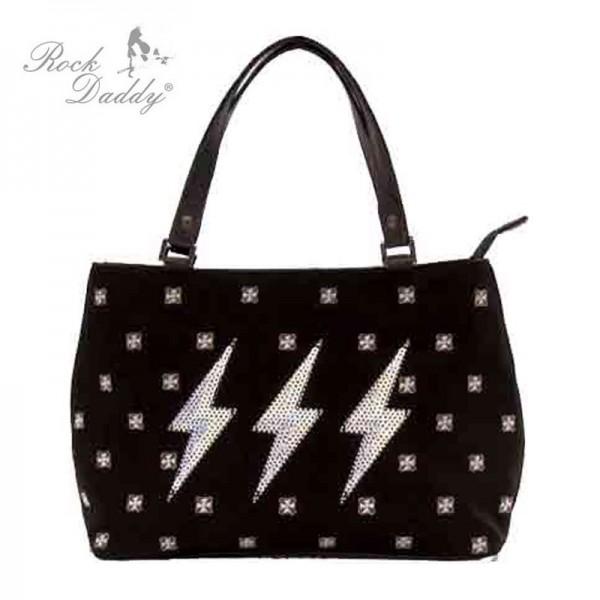 Tasche mit Stickereien mit Blitzen