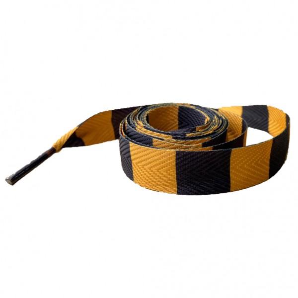 Gelb Schwarz Gestreifte Schnürsenkel