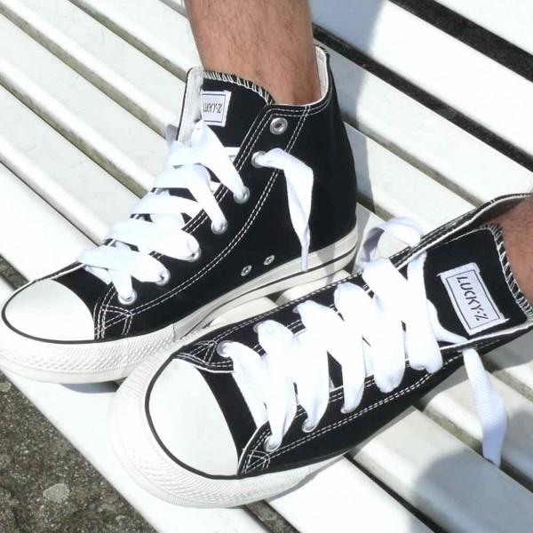 Weiße Uni Farbene Schnürsenkel