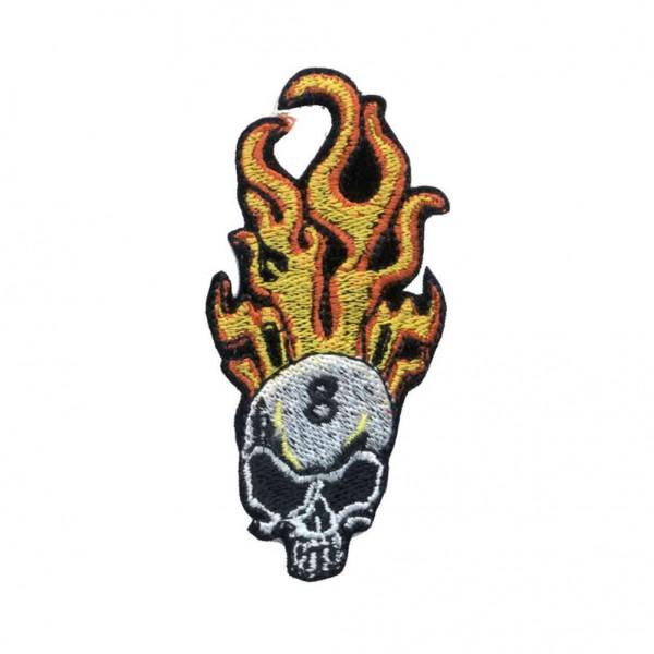 Flammen Totenkopf Patch