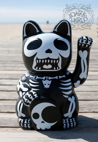 Skelett Halloween Winke Katze