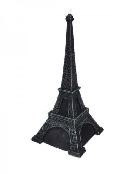 Schwarze Premium Eiffelturm Deko Kerze