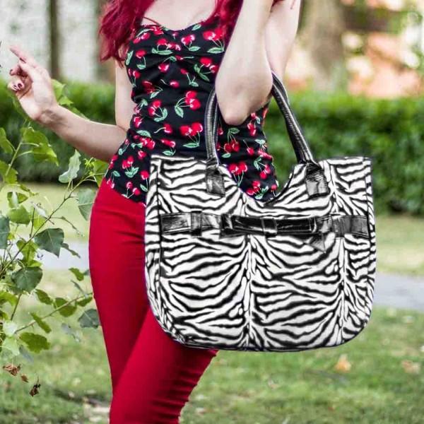 Rockabilly Leopard Handtasche