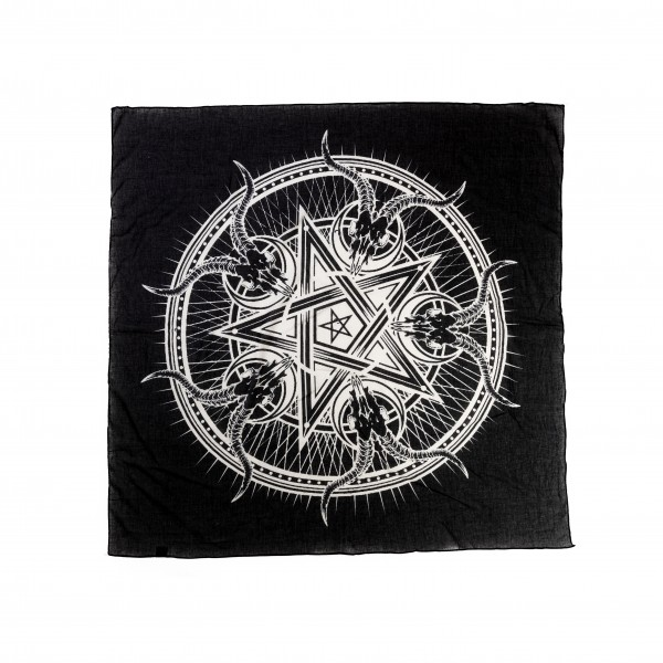 Black Sinner Geisbock Pentagram Ocult Baumwolltuch